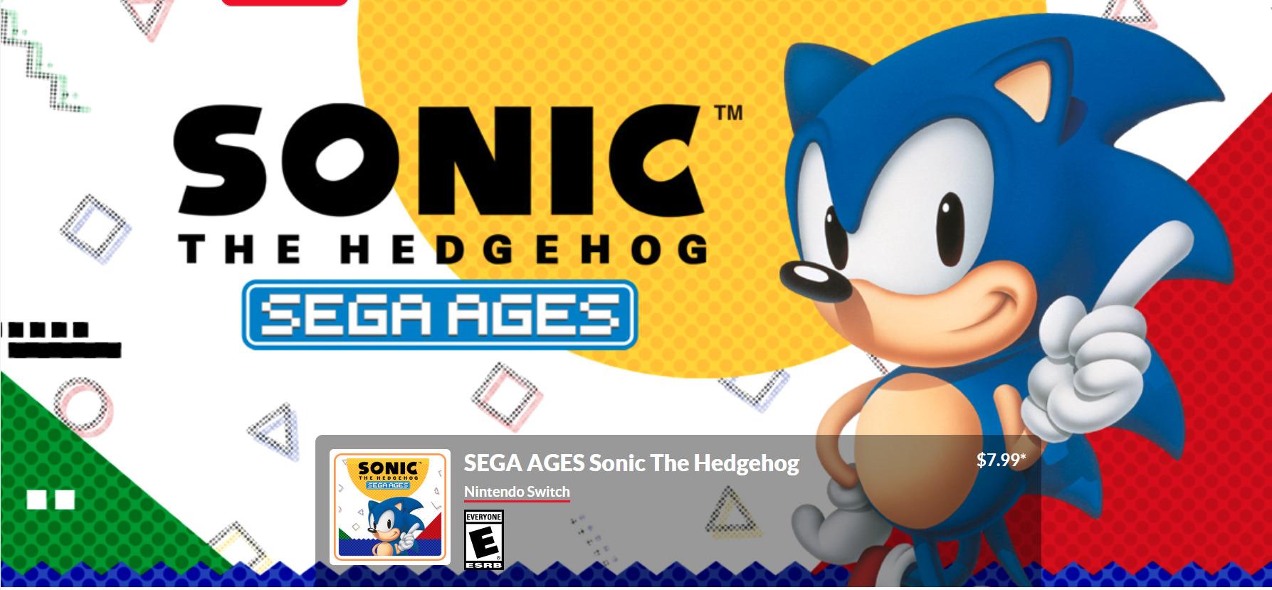 Exa Arcadia Supports Release Of Sonic The Hedgehog On Nintendo Switch Exa Arcadia